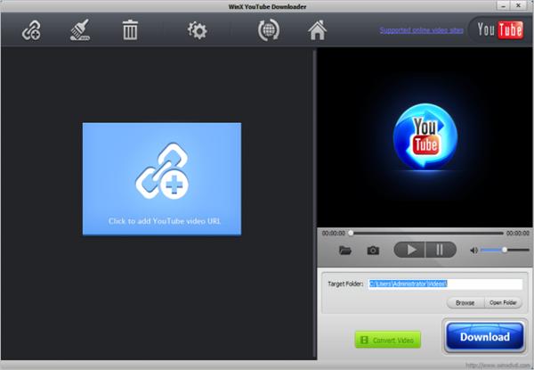 WinX YouTube Downloader, Convertir videos de YouTube a MP3 y MP4 más rápido.
