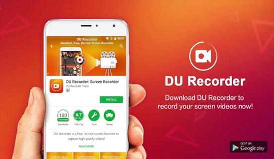 DU Recorder, Aplicaciones de grabación de pantalla para Android.