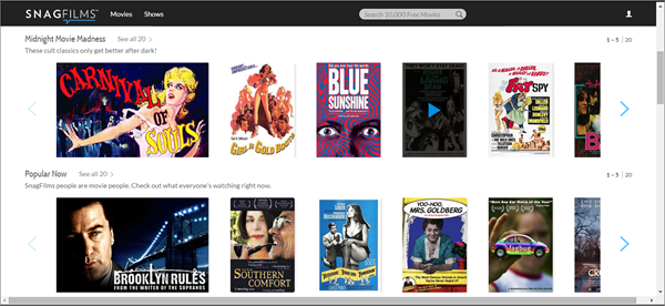 SnagFilms, Top 10 alternativas de Movie4k para ti.