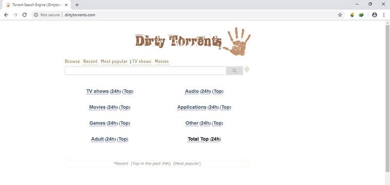 Dirty Torrents, Alternatives à Torrentz / torrentz2: 10 sites de torrent similaires.
