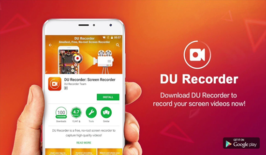 DU Recorder, 10 applications d'enregistrement d'écran pour Android.