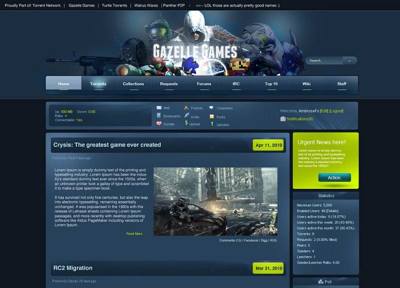 GazelleGames, Alternatives à Torrentz / torrentz2: 10 sites de torrent similaires.