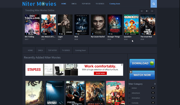 Niter, Top 10 des alternatives Movie4k pour vous.