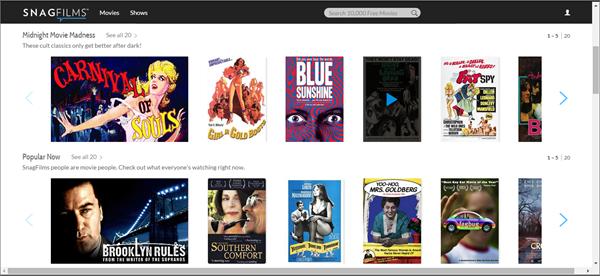 SnagFilms, Top 10 des alternatives Movie4k pour vous.