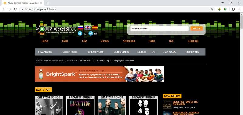 Soundpark, Alternatives à Torrentz / torrentz2: 10 sites de torrent similaires.
