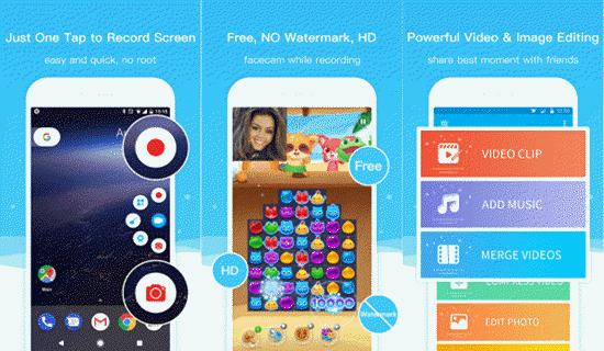 Super Screen Recorder, 10 applications d'enregistrement d'écran pour Android.