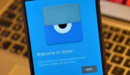 Vysor, 10 applications d'enregistrement d'écran pour Android.