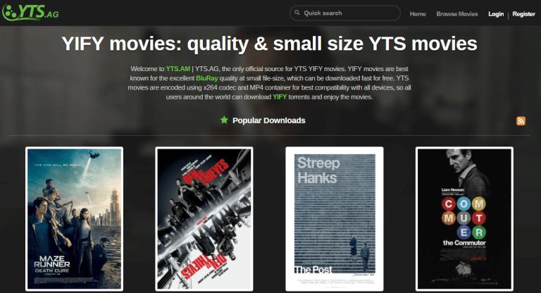 YTS.ag, Alternatives à Torrentz / torrentz2: 10 sites de torrent similaires.