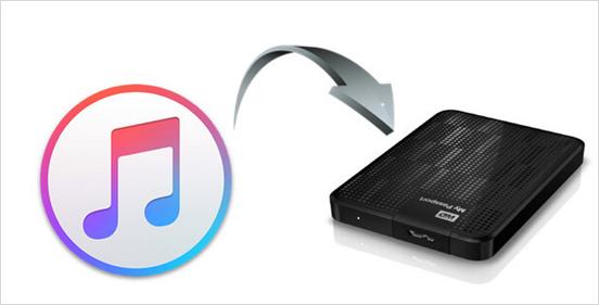 ¿Cómo mover la biblioteca de iTunes a un disco duro externo?