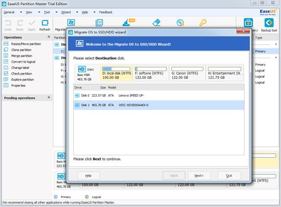 Comment migrer un système d'exploitation vers un disque SSD avec Little Fuss and Bother?