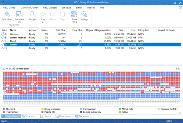 O & O Defrag is one of the bop best Disk Defragmenter Software for Windows.