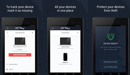 Installez Prey Anti Theft pour retrouver votre téléphone Android perdu