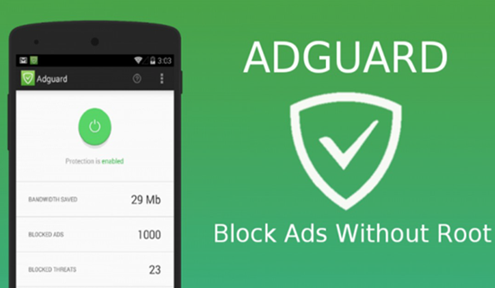 AdGuard for Android, Beste Werbeblocker Apps für Android Phone.