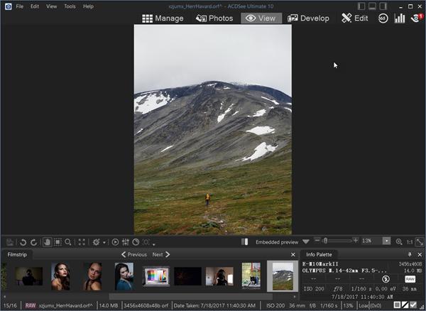 Öffnen von RAW-Fotos mit dem RAW Bildbetrachter unter Windows 10