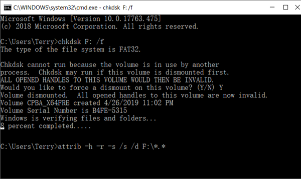 Recover Photos from Fujifilm with Command Prompt