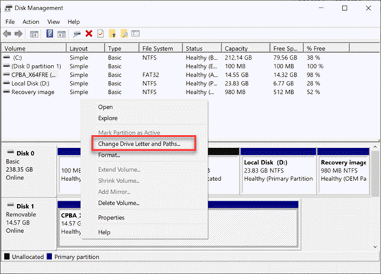 Recover Corrupted SD Card by Assigning a New Drive Letter