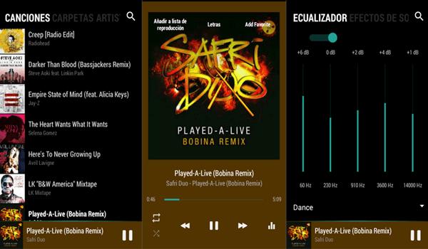 BlackPlayer, Mejores reproductores de audio para Android.