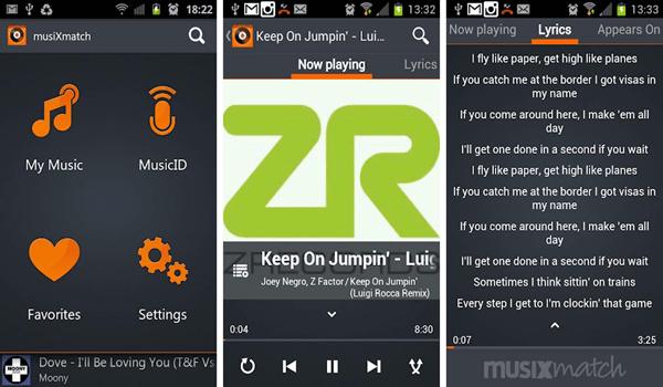 Musixmatch, Mejores reproductores de audio para Android.