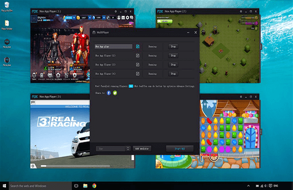 Nox App Player, Emuladores Android gratuitos para Windows y Mac.