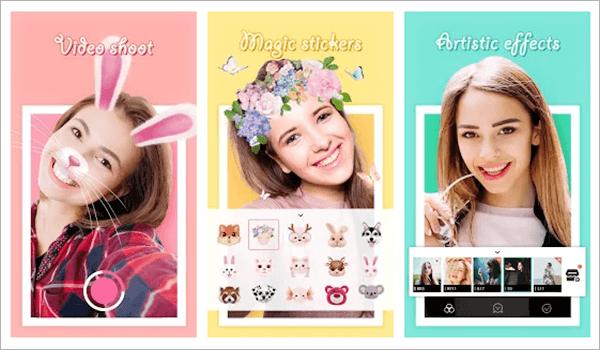 BestMe Selfie Camera, Top 5 des applications d'appareil photo Selfie pour Android.
