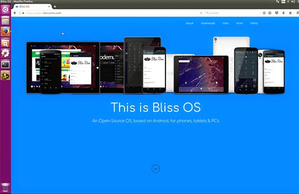 Bliss, Émulateurs Android gratuits pour Windows et Mac.