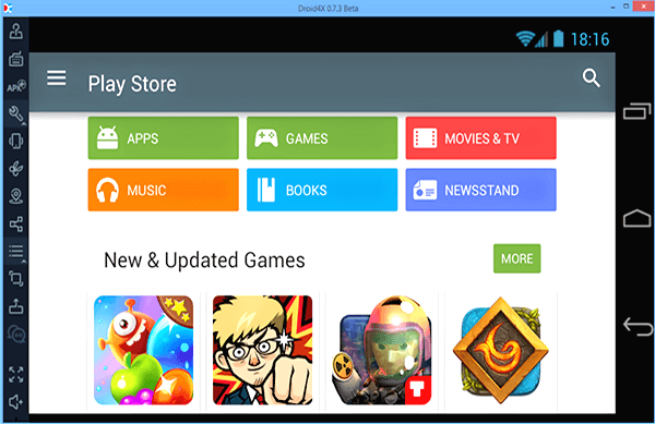 Droid4X, Émulateurs Android gratuits pour Windows et Mac.