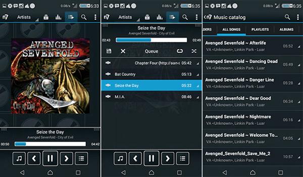 n7player, Meilleurs lecteurs audio pour Android.