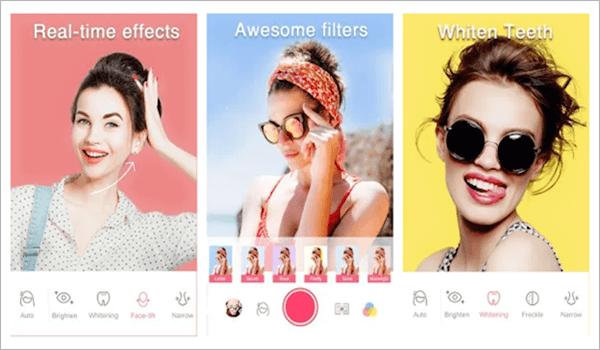 Sweet Selfie, Top 5 des applications d'appareil photo Selfie pour Android.