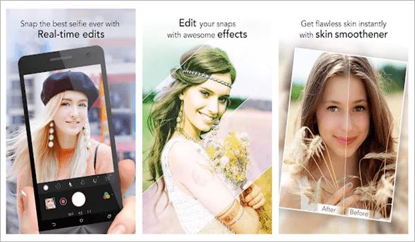 YouCam Perfect - Éditeur Photo Selfie, Top 5 des applications d'appareil photo Selfie pour Android.
