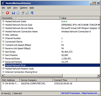 HostedNetworkStarter is one of the best WiFi Hotspot software for PC.