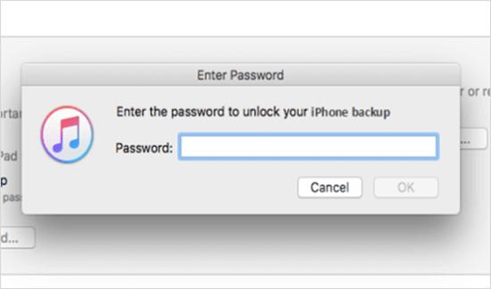 iTunes Pide una contraseña de iPhone que nunca he establecido