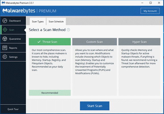 Remove Win32: Malware-gen Virus with Malwarebytes