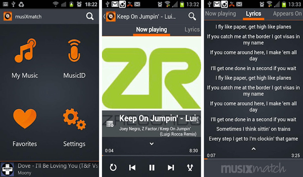 Musixmatch, Meilleurs lecteurs audio pour Android.