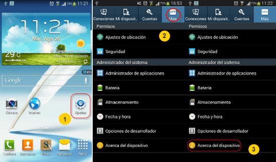 Pasos para habilitar la depuración USB en Android 4.2 – 4.3