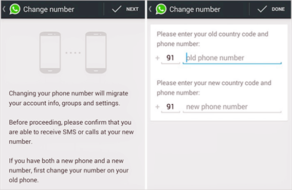 Comment changer le numéro de téléphone WhatsApp?