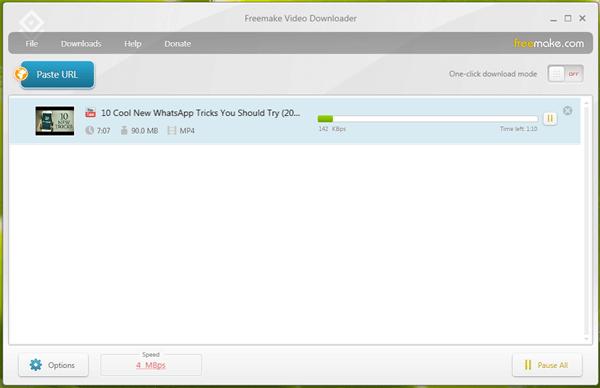 Der Freemake Video Downloader hat auch eine Download-Funktion mittels eines Klicks entwickelt.