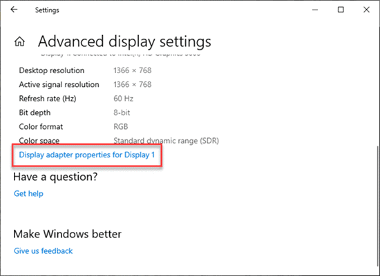 How to Check Graphics Card in Windows 10 Settings