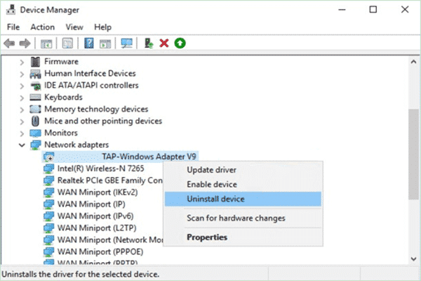 How to Reinstall TAP Windows Adapter?