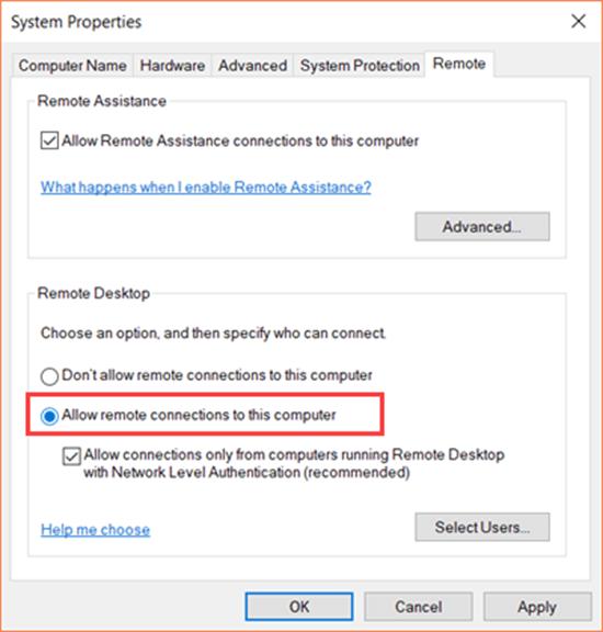 Comment activer le Bureau à distance dans Windows 10?