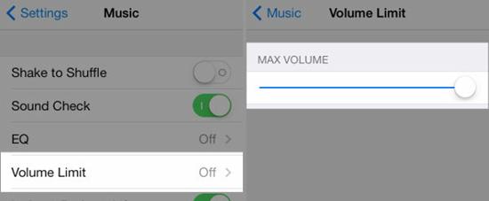 Retirer le bouchon de volume maximum