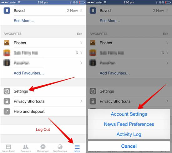 Desactivar el sonido de la app de Facebook en tu iPhone