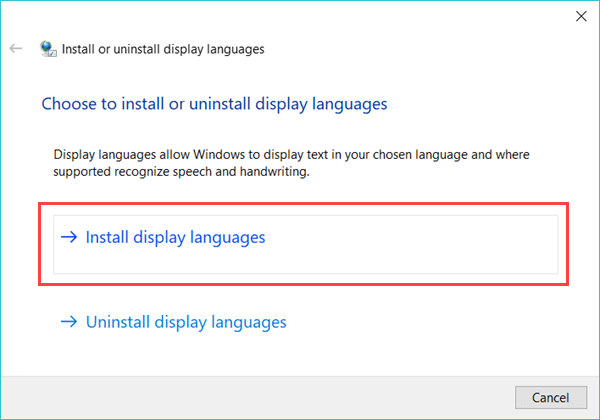 Téléchargez et installez manuellement le module linguistique Windows 10