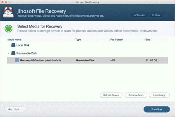 Steps to recover Mac files with the data recovery software
