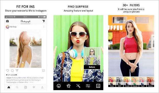 Kein Zuschneiden & Quadrat für Instagram