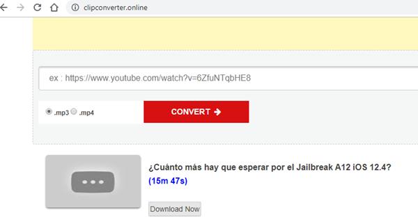 ClipConverter es un servicio online de conversión de vídeos de YouTube totalmente gratuito.
