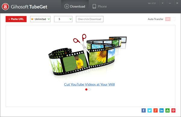 Gihosoft TubeGet est une autre application de bureau similaire à Jihosoft 4K Video Downloader.