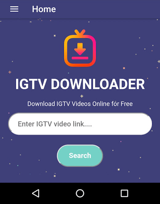 IGTV Video Downloader est une application mobile Android différente des 2 applications de bureau mentionnées ci-dessus.