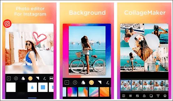 InSquare Pic est l'un des éditeurs de photos sans rognage les mieux notés pour Instagram