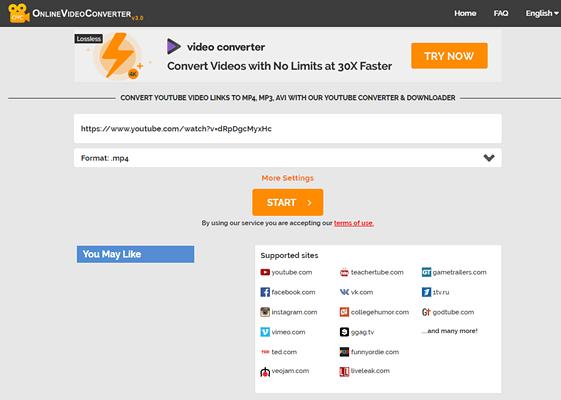 Online Video Converter es una herramienta profesional que te permite descargar y convertir vídeos de YouTube.