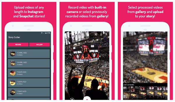 Si vous utilisez un téléphone Android, nous vous suggérons d'essayer Story Cutter for Instagram.